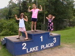Lake Placid Gardner Girls at the Jump Center