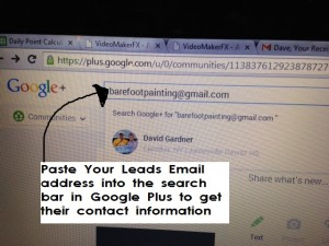 Google Plus Email Paste