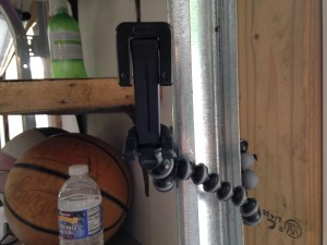 JOBY Gorilla Pod on Door track
