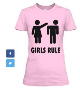 Girls Rule_T-pink