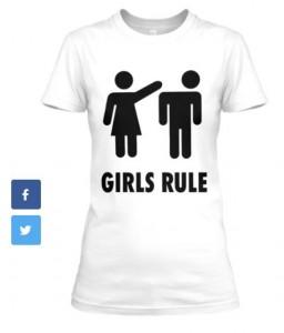 Girls Rule_T-white