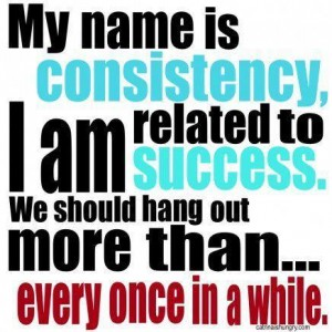 Consistency for success