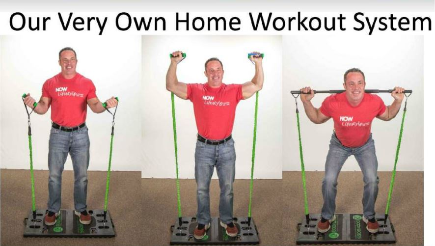 Now Body Now Lifestyle resistance band workout station