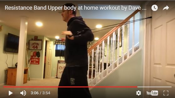Resistance band at home workout