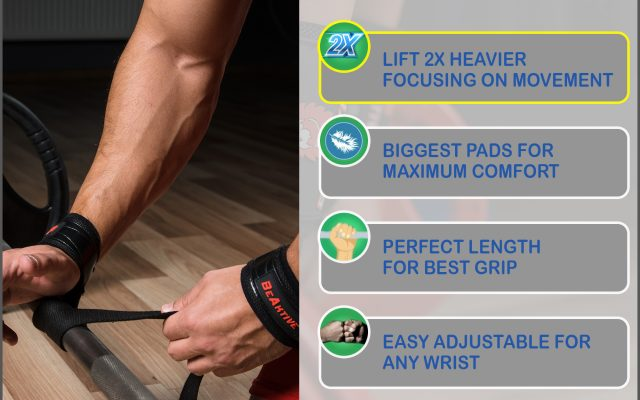Wrist Straps and Wraps for weight lifting