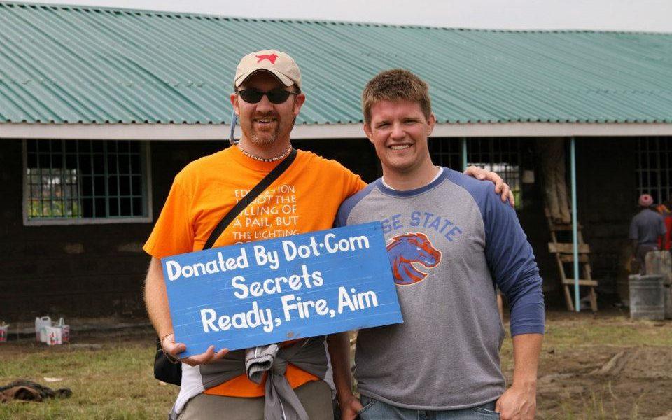 Dave Gardner and Russell Brunson in Kenya 2012