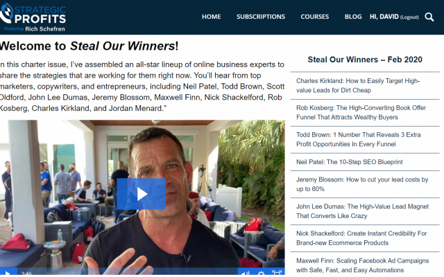 Steal Our Winners Rich Schefren newsletter