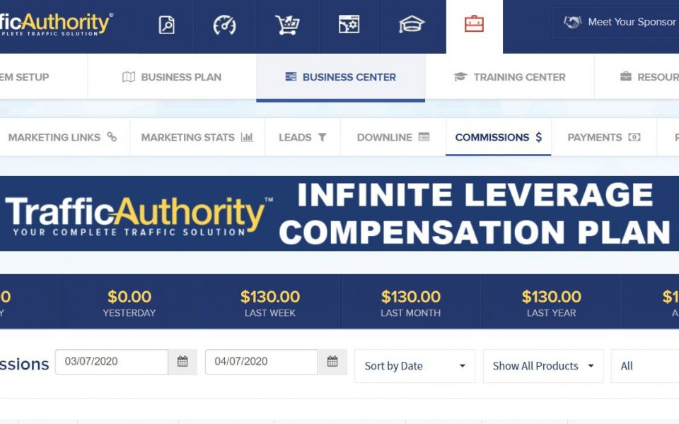 Traffic Authority Review and Sales Results Commissions Earned