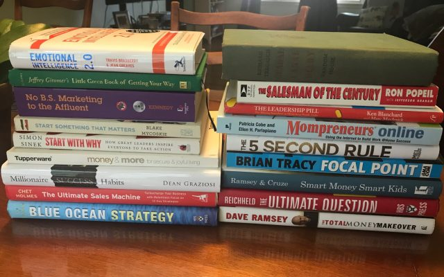 Thrift store business and marketing book haul