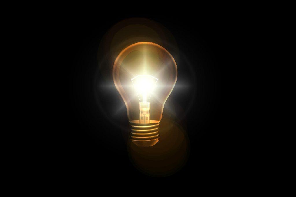 Light bulb Thomas Edison inspiration